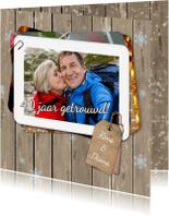 Jubileumkaarten - Jubileum fotostapel hout RB