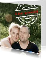 Jubileumkaarten -  jubileum  getrouwd stempel