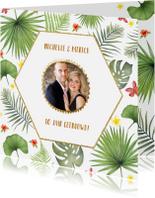 Jubileumkaarten - Jubileum tropical