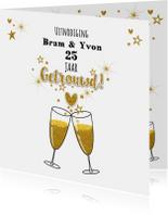 Jubileumkaarten - Jubileum trouwdag stijlvolle uitnodiging