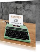 Jubileumkaarten - Jubileum - Typemachine groen