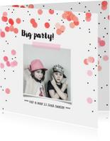 Jubileumkaarten - Jubileum uitnodiging confetti feest