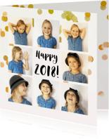 Kerstkaarten - jubileum uitnodiging fotocollage