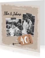 betekenis 40 jaar getrouwd 40 jaar getrouwd | uitnodiging jubileum | Kaartje2go betekenis 40 jaar getrouwd