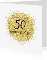 Jubileumkaarten - Jubileum vijftig goud av