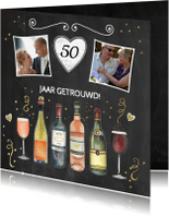 Jubileumkaarten - Jubileum vijftig jaar wijn