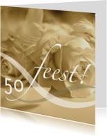 Jubileumkaarten - jubileum vijftig tekst variabel sepia