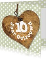 Jubileumkaarten - Jubileumkaart 10 jaar getrouwd