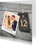 Jubileumkaarten - Jubileumkaart 12,5 jaar hout