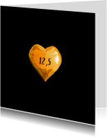 Jubileumkaarten - Jubileumkaart 12,5 jaar huwelijk uitnodiging