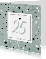 Jubileumkaarten - Jubileumkaart 25 jaar huwelijk groen stijlvol en hip