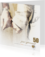 Jubileumkaarten - Jubileumkaart 50 Gouden Jaren
