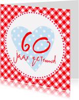 Jubileumkaarten - Jubileumkaart 60 jaar getrouwd HC