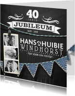 Jubileumkaarten - jubileumkaart foto krijt stijlvol