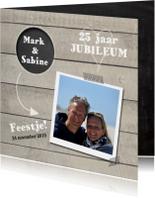 Jubileumkaarten - Jubileumkaart hout met cirkel