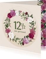 Felicitatiekaarten - Jubileumkaart met rozenkrans