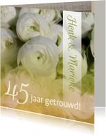 Jubileumkaarten - Jubileumkaart ranonkel wit groen