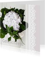 Felicitatiekaarten - Kaart Hortensia kant