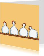 Kinderkaarten - Kaart Kippen