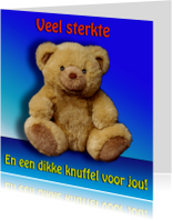 Sterkte kaarten - Kaart met knuffelbeer