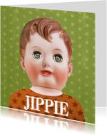 Felicitatiekaarten - Kaart met retro pop jongen