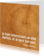Spreukenkaarten - Kaart met spreuk hout