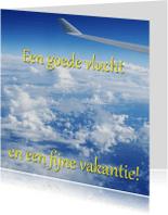 Vakantiekaarten - Kaart uitzicht vanuit vliegtuig