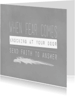 Spreukenkaarten - Kaart When fair comes