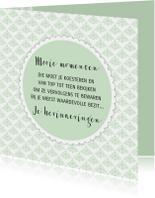 Spreukenkaarten - Kaartje