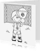 Kleurplaat kaarten - Kampioen Heppie-Kids