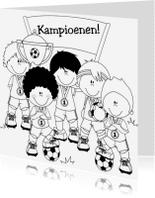 Kleurplaat kaarten - Kampioenen Heppie-Kids