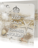 Vakantiekaarten - Keep Calm Summer Holiday beach - SG