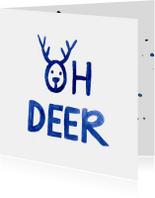 Kerstkaarten - kerst-aquarel-deer-ADG