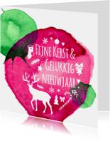 Kerstkaarten - kerst-aquarel-fijne-dagen-ADG
