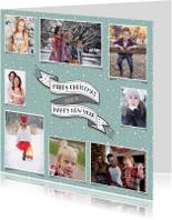 Kerstkaarten - Kerst banner fotocollage