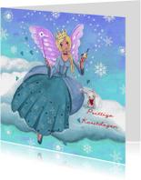 Kerstkaarten - Kerst ENGEL Sneeuw Liefde Illustratie