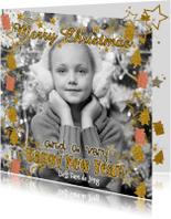 Kerstkaarten - Kerst foto glitter boom pakje