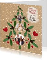 Kerstkaarten - Kerst fotoboom papierprint