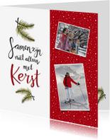 Kerstkaarten - Kerst handlettering fotokaart - HR