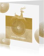 Kerstkaarten - Kerst - Jumping Deer Gold - MW