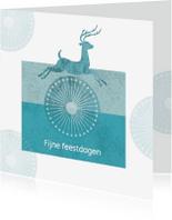 Kerstkaarten - Kerst - Jumping Deer Green - MW