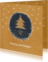 Kerstkaarten - Kerst - Kerstboom & sterren - MW