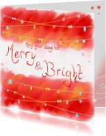 Kerstkaarten - Kerst- Merry & Bright - PetPet