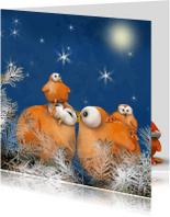 Kerstkaarten - Kerst met Ptie Foe en zijn gezin