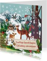 Kerstkaarten - kerst winterlandschap