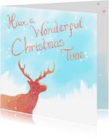 Kerstkaarten - Kerst - Wonderful Time - PetPet