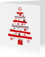 Kerstkaarten - Kerstboom met illustraties