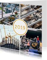 Kerstkaart '2019' met 4 foto's vierkant
