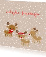 Kerstkaarten - Kerstkaart 3 rendieren
