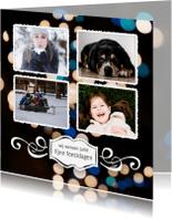 Kerstkaarten - Kerstkaart 4 foto's met persoonlijke tekst
